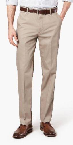 Neuf Avec Étiquettes Hommes DOCKERS Signature Coton Stretch Khaki Slim Fit Flat Front 5 Couleurs