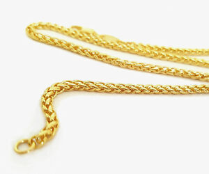 Source-18-inch-18ct-Gold-Braided-Wheat-Chain-Necklace-2mm-thick