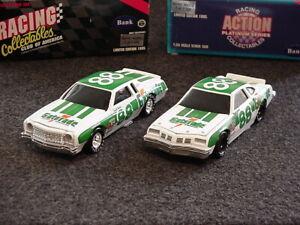 NASCAR-Darrell-Waltrip-Gatorade-Olds-442-and-Gatorade-Chevy-Monte-Carlo-banks