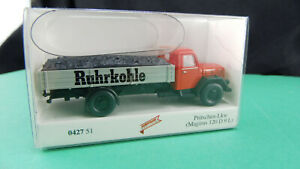 Wiking-042751-Pritschen-LKW-Magirus-120-D9-L-Ruhrkohle-H0-Autodrom-Neu-OVP