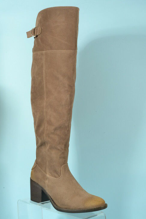 New In Box Too Good to Pass Tobin Taupe Suede Knee High Boots-Various Sizes