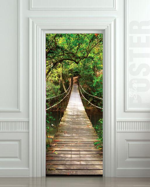 Door STICKER bridge suspended rope mural decole film self-adhesive poster 30x79