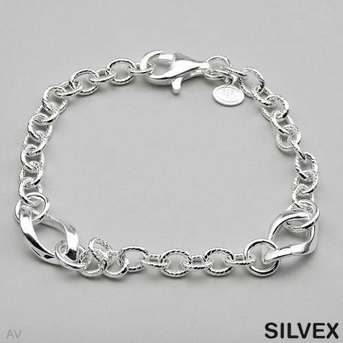 SILVEX Made in Italy Lovely Bracelet Crafted in 925 Sterling Silver 8 inch