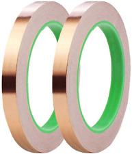2 Pack Copper Foil Tape05inch X 66 Ft Double Sided Conductive Copper Tape With