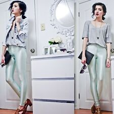 American Apparel Disco Pants - Menthe (Mint color) Size Xxs XXSMALL 00 0 2 Green