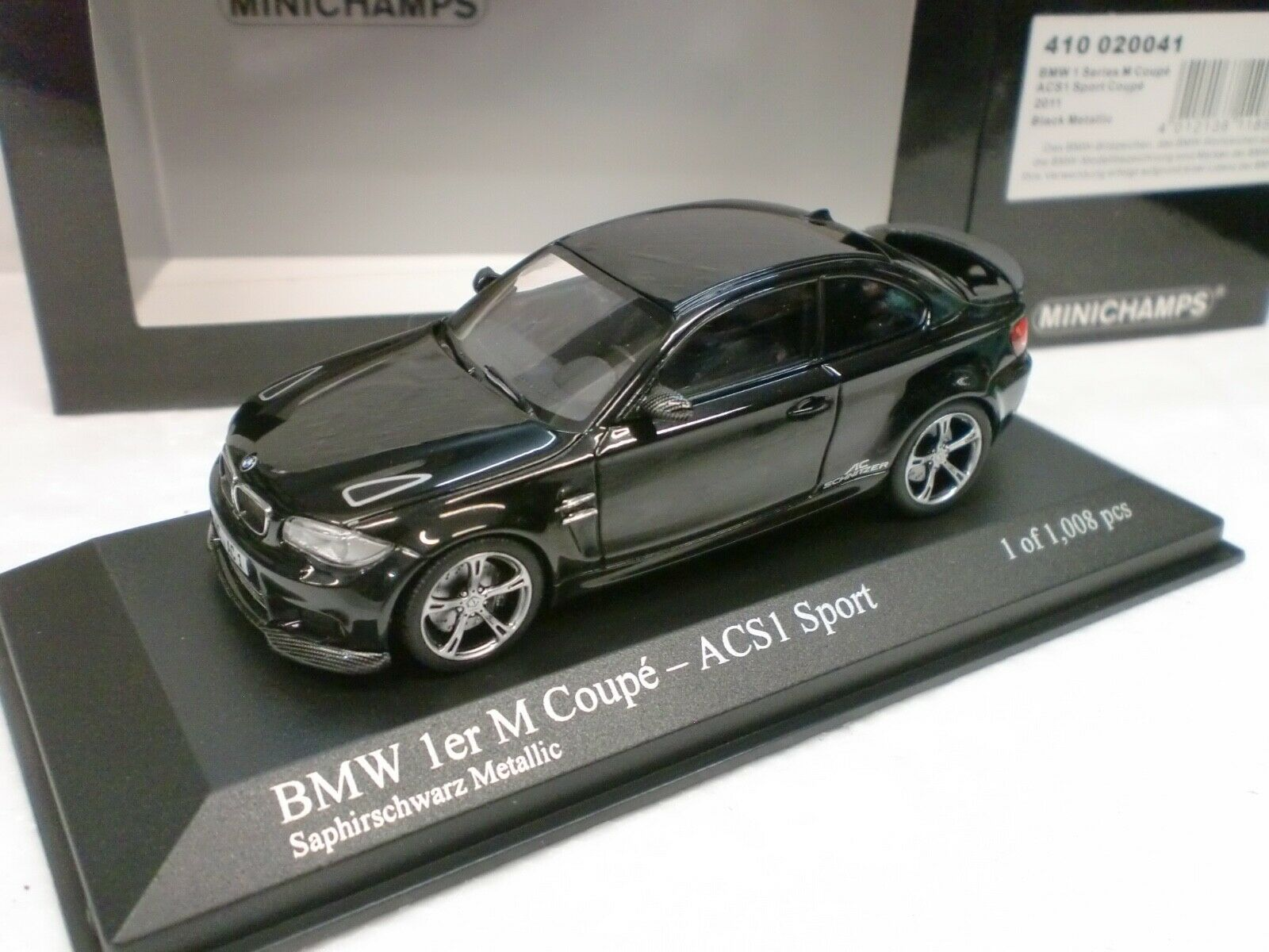 MINICHAMPS 1 43 - BMW 1 M COUPE' ACS1 SPORT 2011 - 410 020041