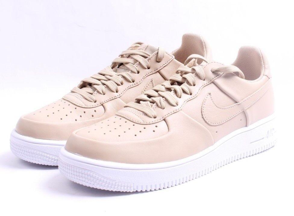 Nike Air Force 1 Ultraforce LTHR Linen & White Uomo SZ 7.5 - 12