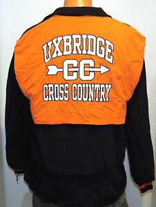 vtg-UXBRIDGE-CROSS-COUNTRY-2002-Team-Jacket-MED-High-School-Running-Spartans-M