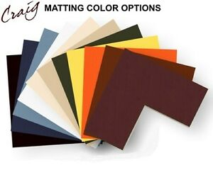 Craig Frames 10x12 Picture Frame Matting Cream Core Opening For