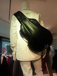 BNWT-MAISON-MARTIN-MARGIELA-For-H-amp-M-Black-Guitar-Shape-Leather-Bag-Backpack