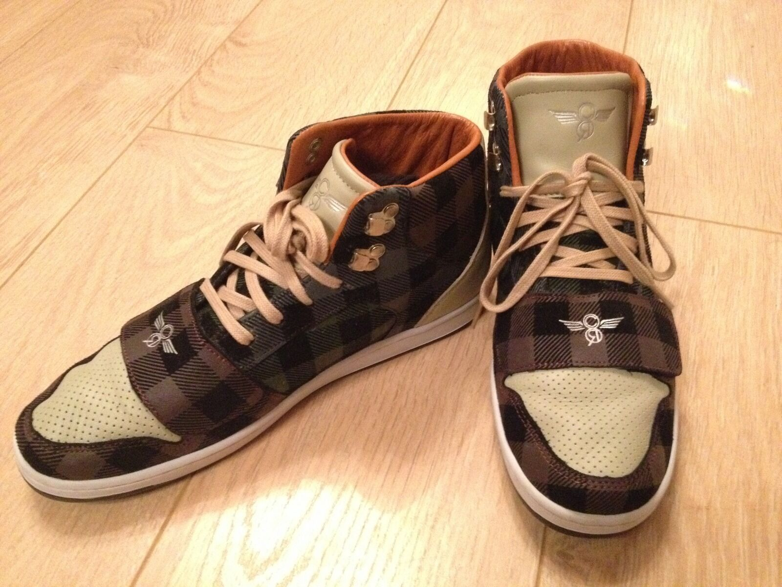 Creative Recreation P Cesario High-Top Mens shoes Trainers Leather Checked UK 9