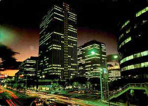 JAPAN-Post-Card-Postkarte-Umeda-Osaka-at-night-Abend-Nachtaufnahme-Asien-Asia