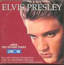 ELVIS PRESLEY: 4 TRACK ENHANCED UK PROMO CD WITH SUSPICIOUS MINDS VIDEO (2001