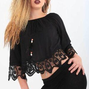 Magnifique-dentelle-legeres-chemisier-NOIR-GOTHIC-GOTHIK-shirt-Black-BLOUSON