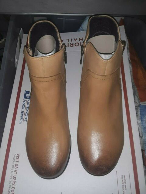 [Size 10] Propet Waverly Tan/light brown Leather Women's Ankle Booties [NEW]