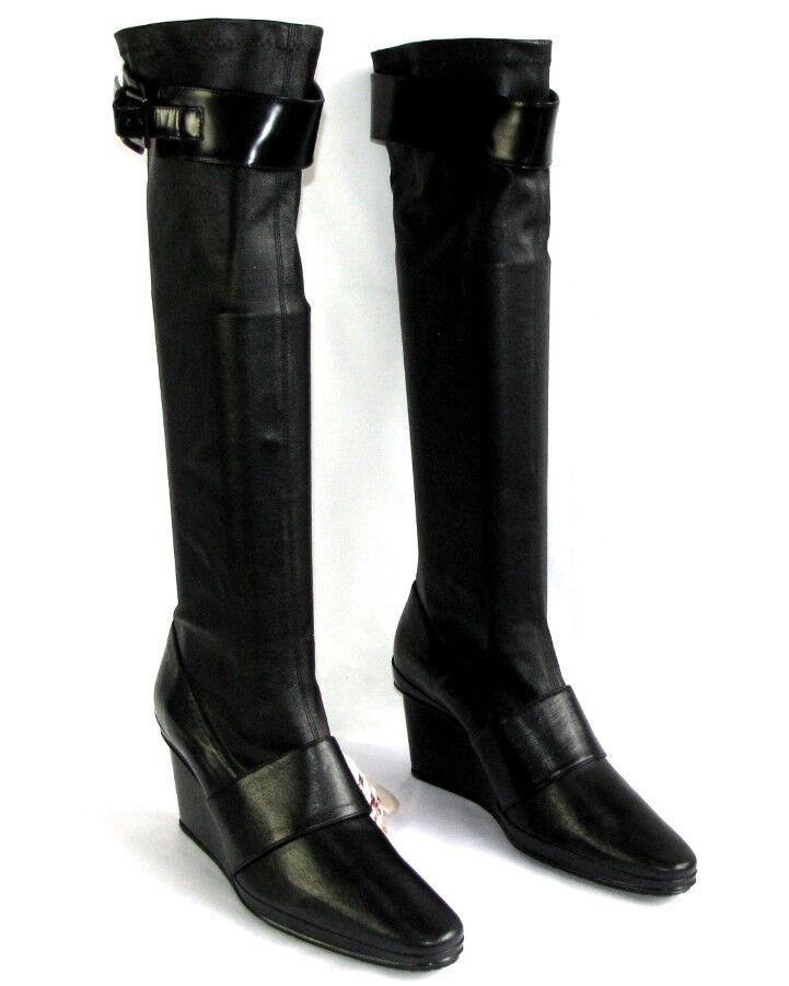 STEPHANE KELIAN Stiefel Keil Kunstleder Stretch schwarz 8 40 sehr guter Zustand