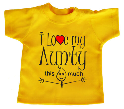 "Niece Nephew T-Shirt /""I Love My Aunty this Much/"" Baby Boy Girl Aunt Gift"