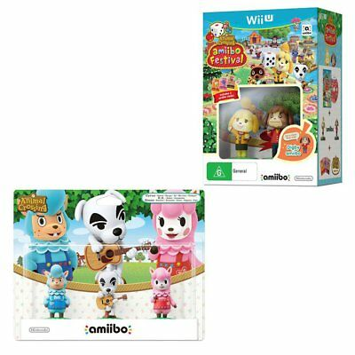 Animal Crossing Amiibo Festival 5 amiibo Bundle Wii U WiiU Game NEW
