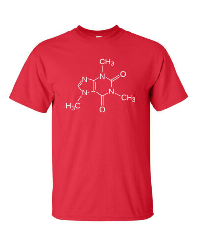 Caffeine Molecule Coffee Drinker Sheldon Cooper Science  Men/'s Tee Shirt 556