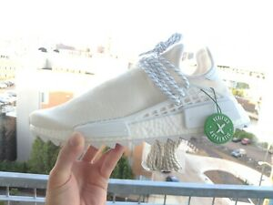 wholesale dealer 03f0b 68d32 Details about Adidas Pharrell Williams Human Race Holi NMD Blank Canvas  Cream AC7031 size 11