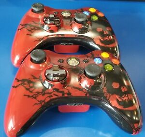 Lot-of-2-Gears-of-War-Special-Edition-Wireless-Controllers-for-Xbox-360