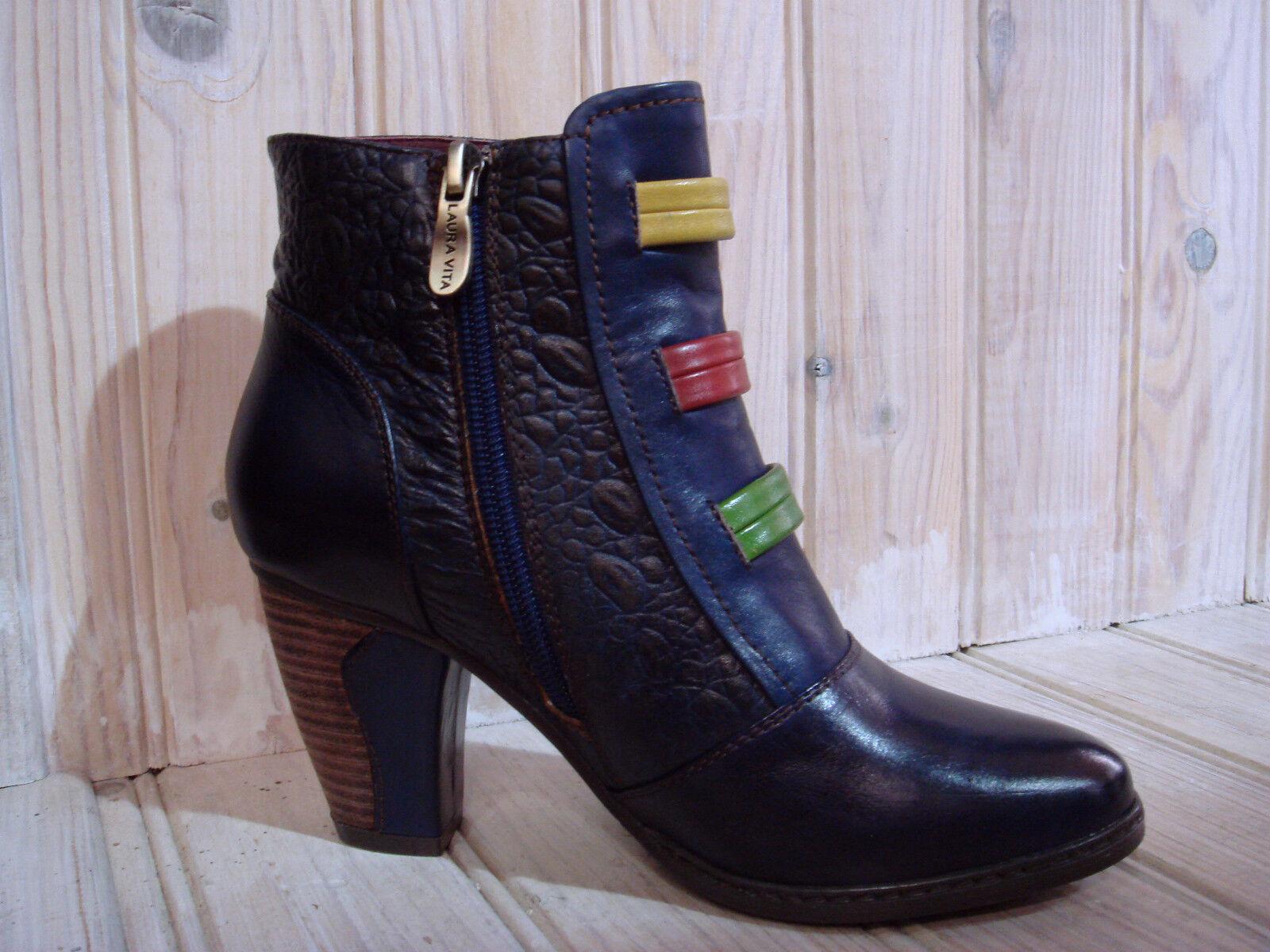 LAURA VITA bottine femme réf CX2618-3 AMELIE 03 bleu P37  neuves 2016