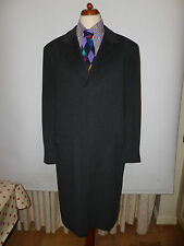 MENS SAVOY TAYLORS GUILD ITALIAN WOOL AND CASHMERE GREY  OVERCOAT SIZE UK 42R