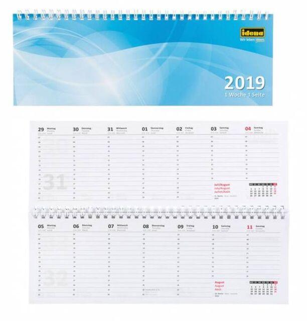 Kalender Querkalender Tischkalender Schreibtischkalender 2020 1W=1S 1W=2S