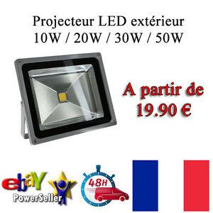 Projecteur-SPOT-LED-exterieur-10W-A-50W-Blanc-Froid-6000K-Super-eclairage