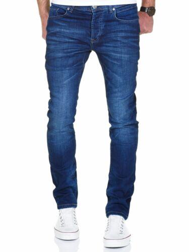 Messieurs Stretch Crinkle Basic Regular Slim Denim Jeans Pantalon 7986