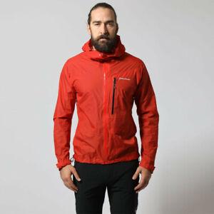 Montane Mens Fireball Jacket Top Black Sports Outdoors Full Zip Hooded Warm