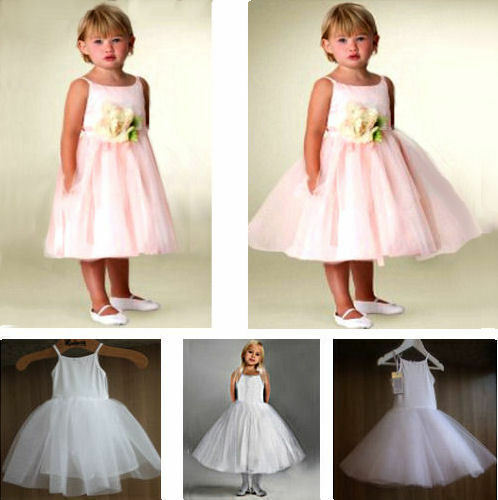 GIRL'S PETTICOAT for FLOWER GIRL COMMUNION NET SLIP UNDERSKIRT 1 -11 YEARS
