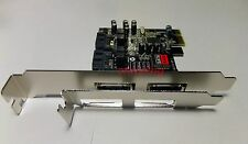 PCI-e PCI express to eSATA SATA RAID Sil3132 controller+low-profile brackets