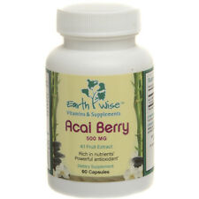ACAI BERRY 4:1 EXTRACT 500 mg POTENT Antioxidant 60 Caps Free Shipping! Ex 11/17