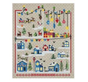 "Christmas Counted Cross Stitch Kit PANNA /""Three white Horse/"""