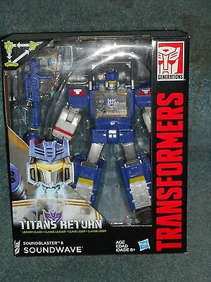 Transformers Titans Return DECEPTICON SOUNDWAVE G1 Homage Headmaster MISB