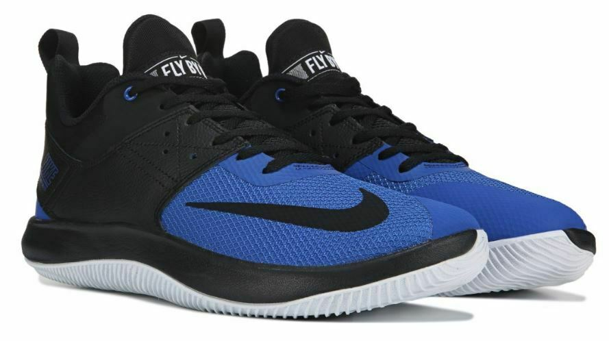 Nike Men FLY BY LOW Authentic Athletic Basketball Tennis Sneaker shoes Black blueee