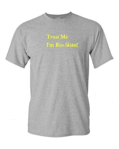 Trust Me I/'m I am Russian T-Shirt USSR Russia Soviet Union KGB Shirt SZ S-5XL