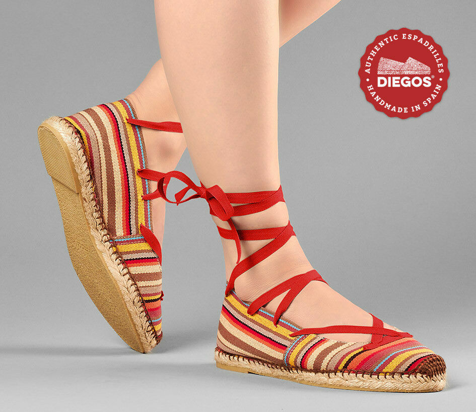 Choose the color of the laces - Flat Ballerina Espadrilles schuhe, schuhe, Espadrilles Made in Spain 5e0d87