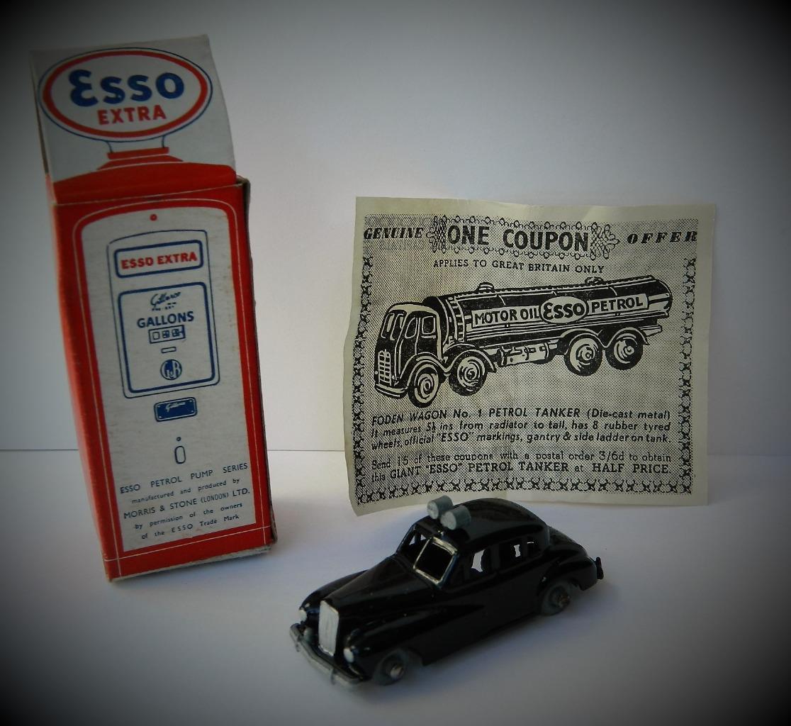 Morestone 1956 in scatola No.5 ESSO POMPA DI BENZINA SERIE Diecast No.5 scatola mobile auto della polizia f46a9d