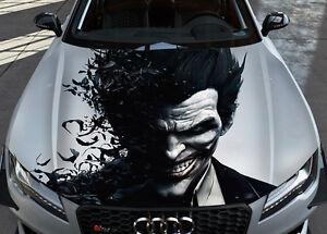 Détails sur Joker 2 voiture bonnet wrap full color vinyle autocollant  decal fit toute voiture, afficher le titre d\u0027origine