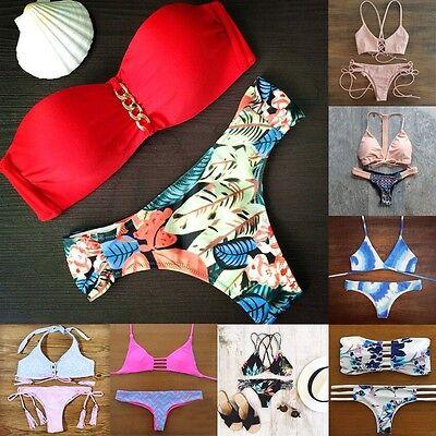 Sexy Womens Push-up Bikini Set Bandage Swimsuit Swimwear Brazilian Bathing Suit