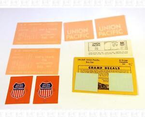Champ-O-Decals-Union-Pacific-Boxcar-White-OB-369-Shield-Logo