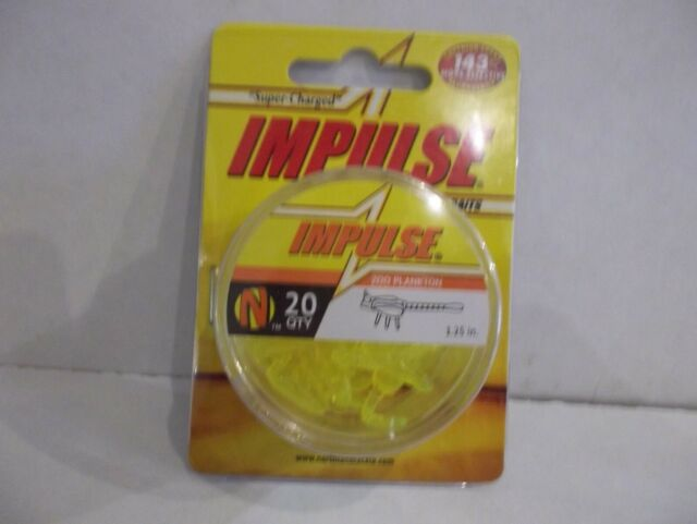 """Northland Impulse Zoo Plankton 1.25/"""" inches 20 per package natural color NIP"""
