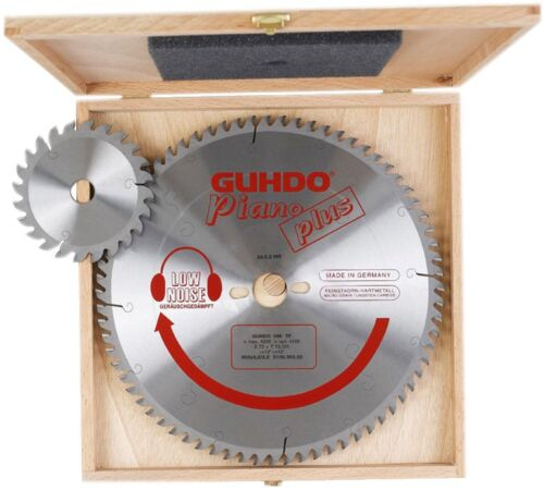 Kreissägeblatt-Set GUHDO für Striebig Compact 250 Z 80 mit Vorritzer in Holzkass