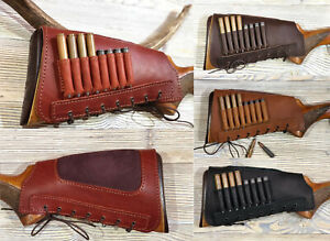 Real Leather Buttstock Cover Butt Stock Holder Cheek Rest Suede Padded