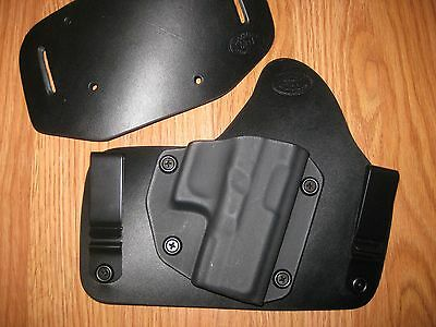 IWB Kydex//Leather Hybrid Holster with adjustable retention for Glock