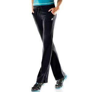 1bef423ce57e NWT Womans XS FILA SPORT Black Movement Straight Leg Yoga Pants NICE ...