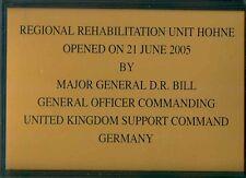 Dunfermline: SCUDO con cornice: REG. riabilitazione Unit Hohne