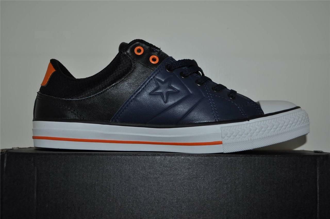 Converse Star Blue Player Rise OX 139859C Blue Star GRN Leather Casual Shoes Size 7 NIB b1ee67
